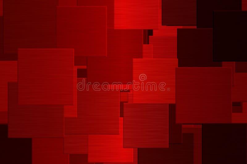 röda fyrkanter royaltyfri illustrationer