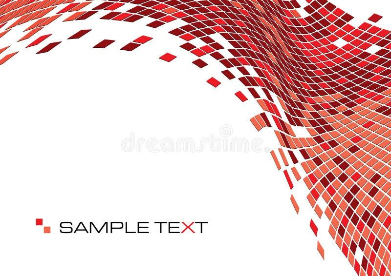 röda fyrkanter vektor illustrationer
