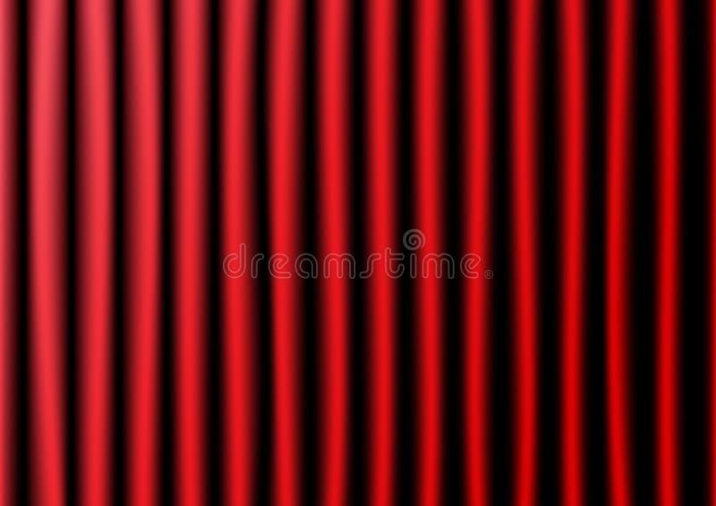 Röda gardiner och illustration för trägolvvektor vektor illustrationer