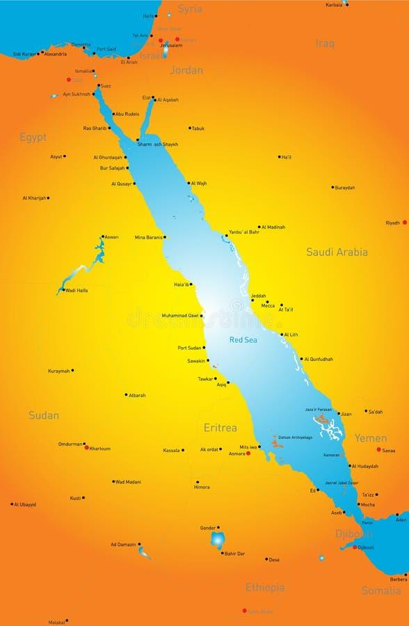 Röda havetregion stock illustrationer