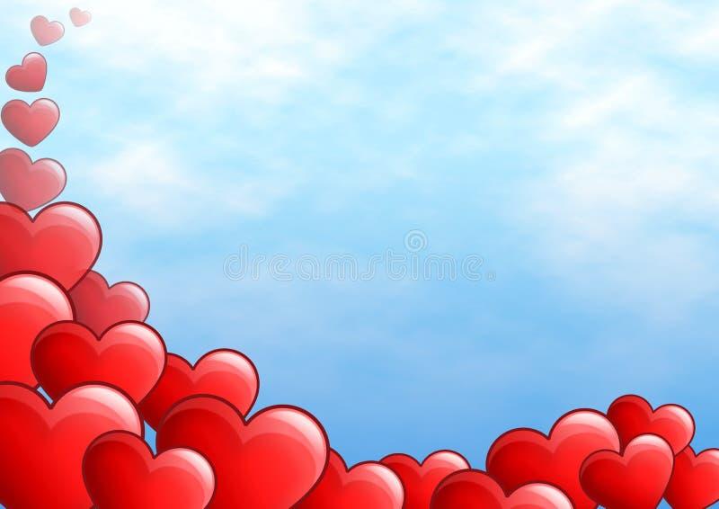 röda hjärtor royaltyfri illustrationer