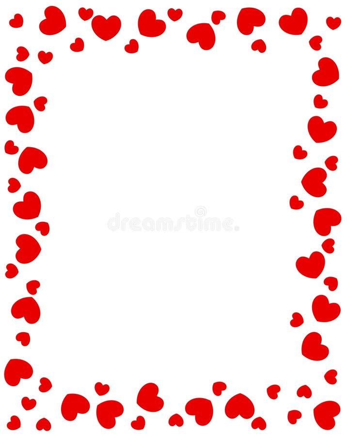 röda kanthjärtor royaltyfri illustrationer