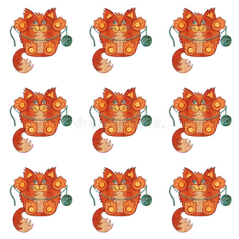 röda katter stock illustrationer