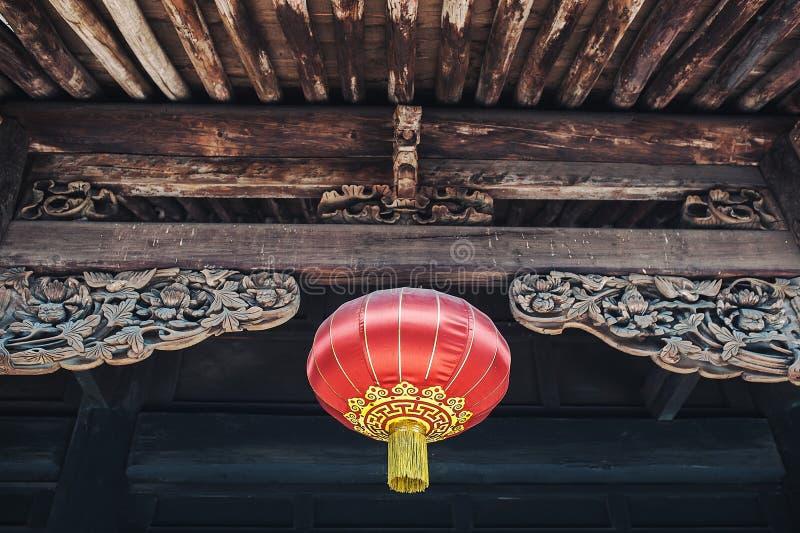 Röda kinesiska Paper lyktor arkivbilder