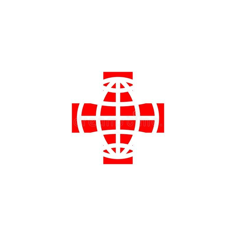 Röda korsetlogo royaltyfri illustrationer