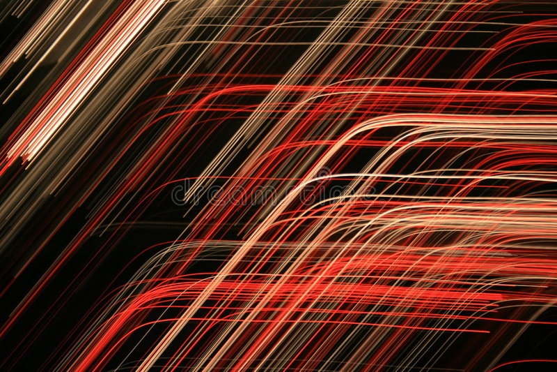 röda kulöra linjer för abstrakt begrepp arkivbild