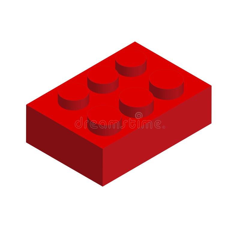 Röda Lego royaltyfri illustrationer