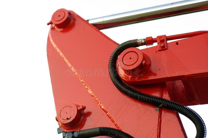 Röda mekanikerdelar royaltyfri foto