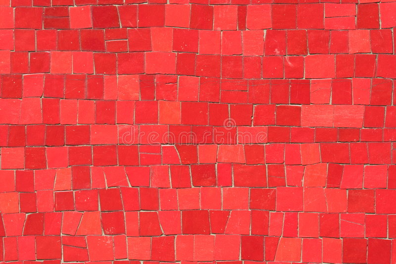 röda mosaik arkivbild