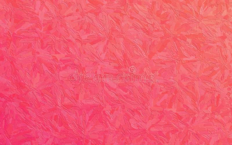 Röda och rosa Impasto med den stora borsten slår bakgrundsillustrationen royaltyfria foton