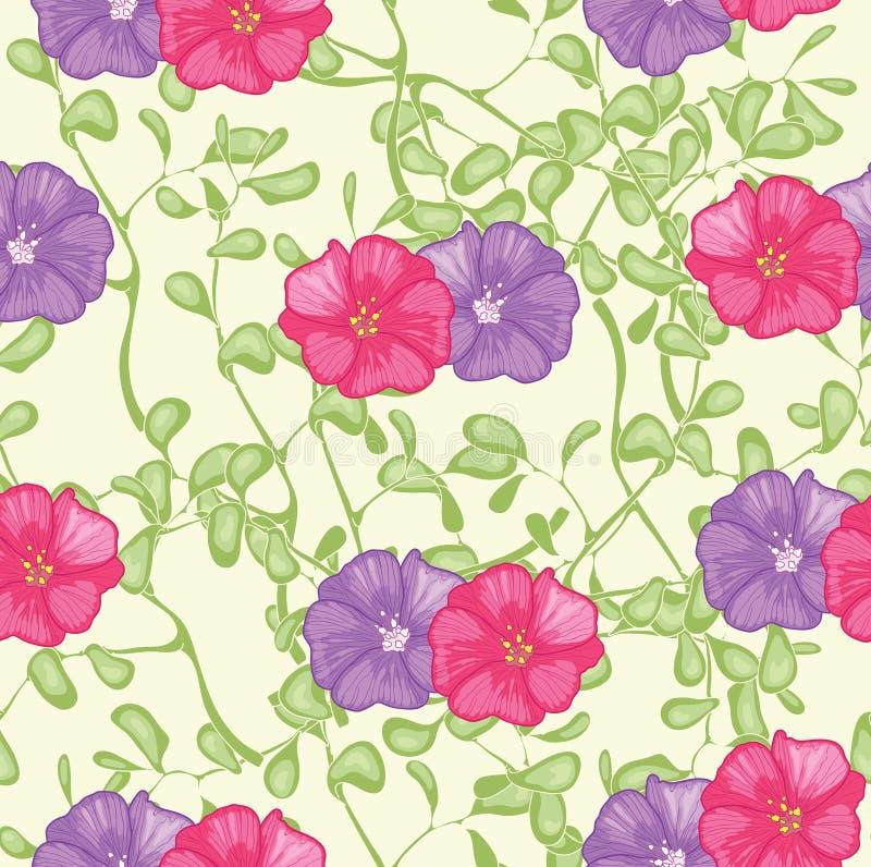 Röda och violetblommor vektor illustrationer