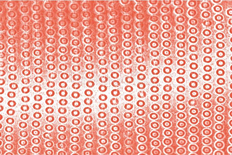 Röda paljetter på skinande bakgrund, abstrakt bakgrund för ljust baner, modern korallfärg royaltyfri fotografi