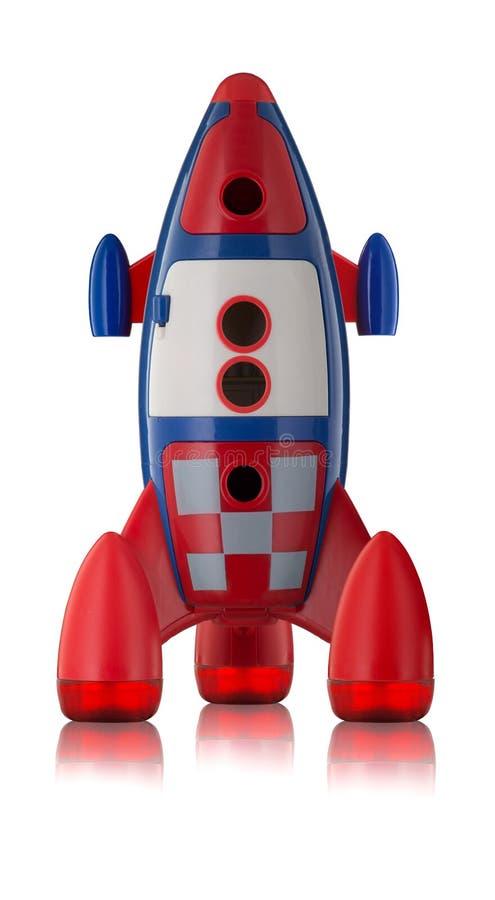 Röda plast- childs för blått- och vitleksak flyger royaltyfri fotografi