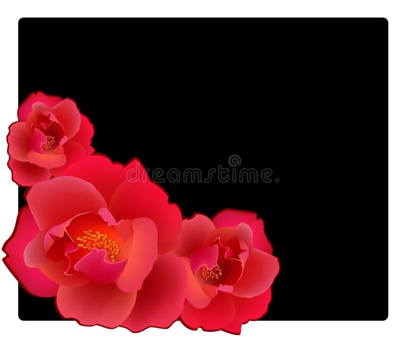 röda ro stock illustrationer