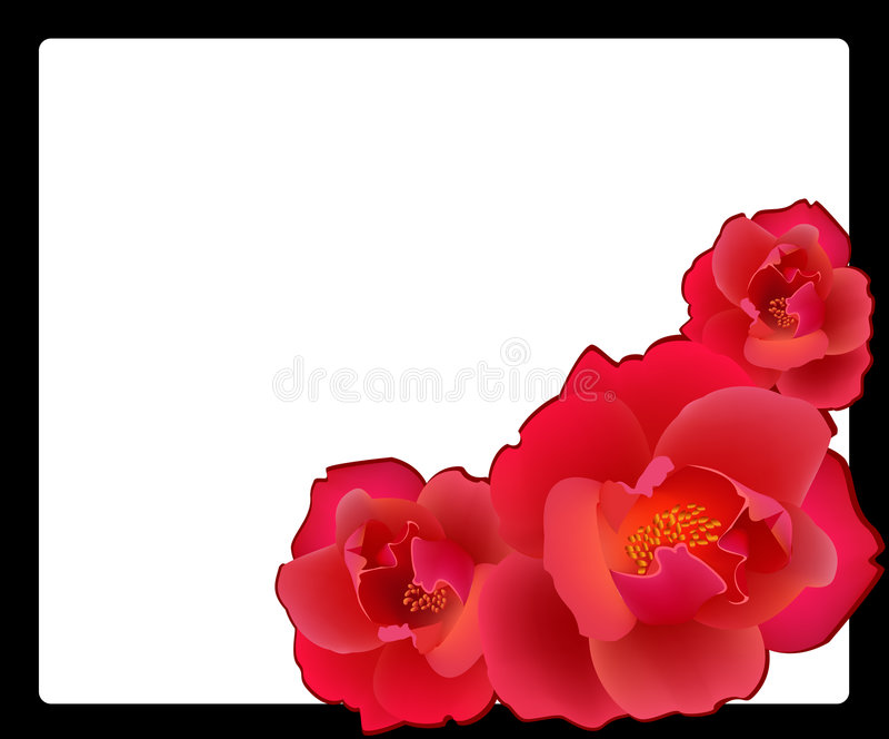 röda ro royaltyfri illustrationer
