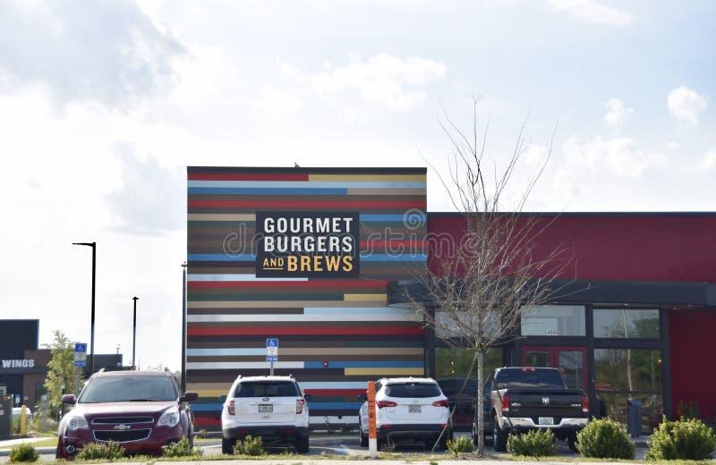 Röda Robin Gourmet Burgers och brygder, Jacksonville, Florida fotografering för bildbyråer
