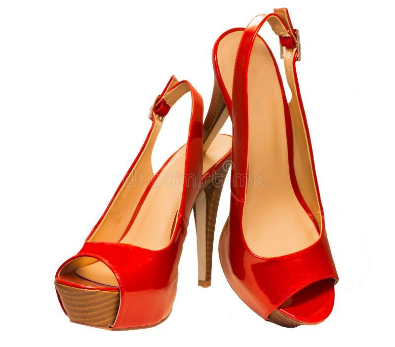 röda sandals fotografering för bildbyråer