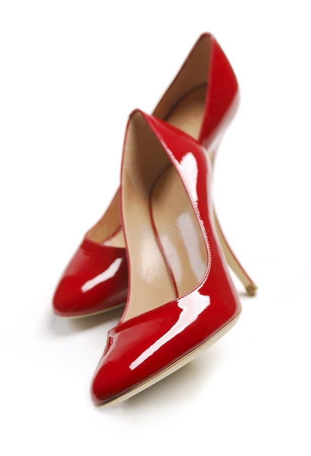 röda sexiga skor royaltyfri bild