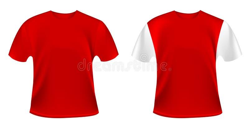 röda skjortor t royaltyfri illustrationer
