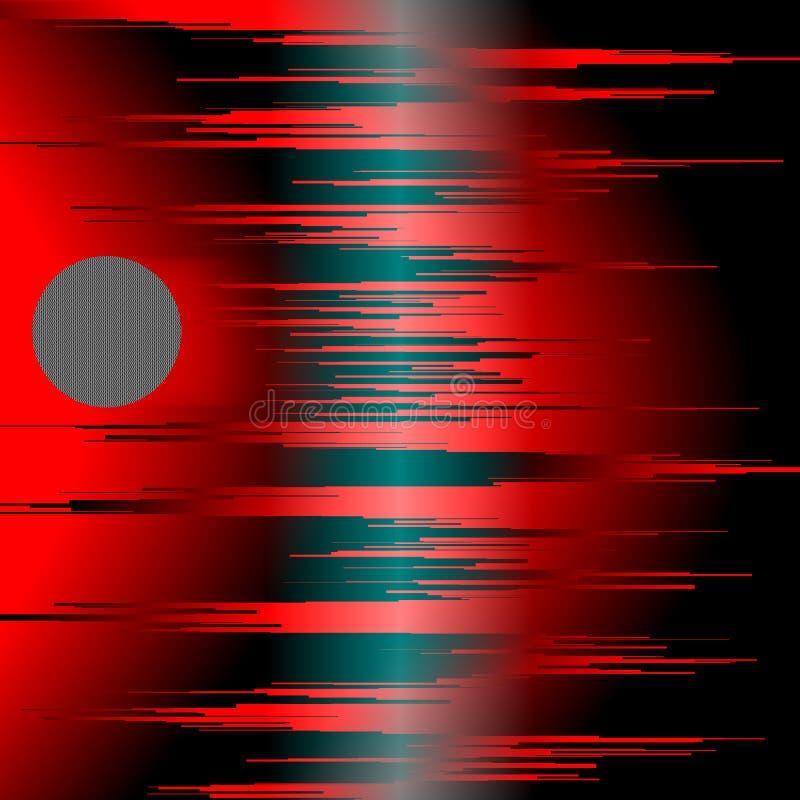 Röda Soundwaves arkivfoton
