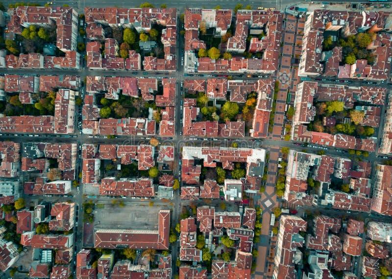 Röda tak av Sofia Bulgaria arkivfoton