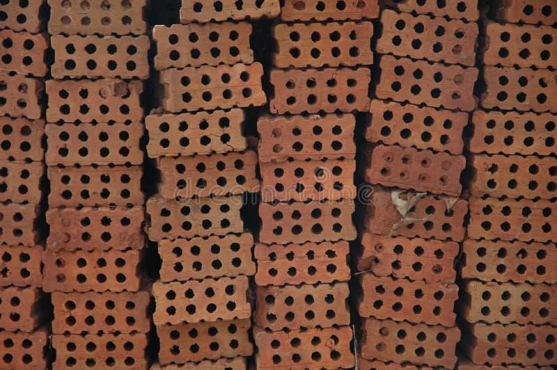 röda tegelstenar royaltyfri fotografi
