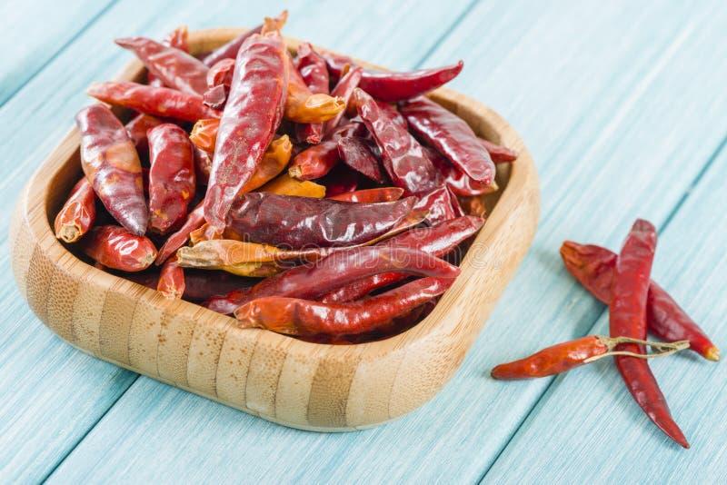 Röda torkade chili arkivbild