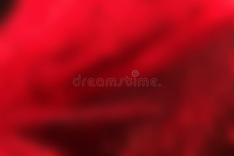 Röda veck, abstrakt suddig bakgrund, mjukt tyg arkivbilder
