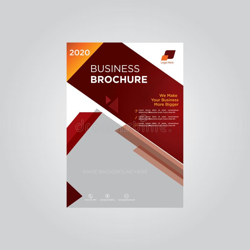 Rödbrun mall för affärsbroschyrföretag vektor illustrationer