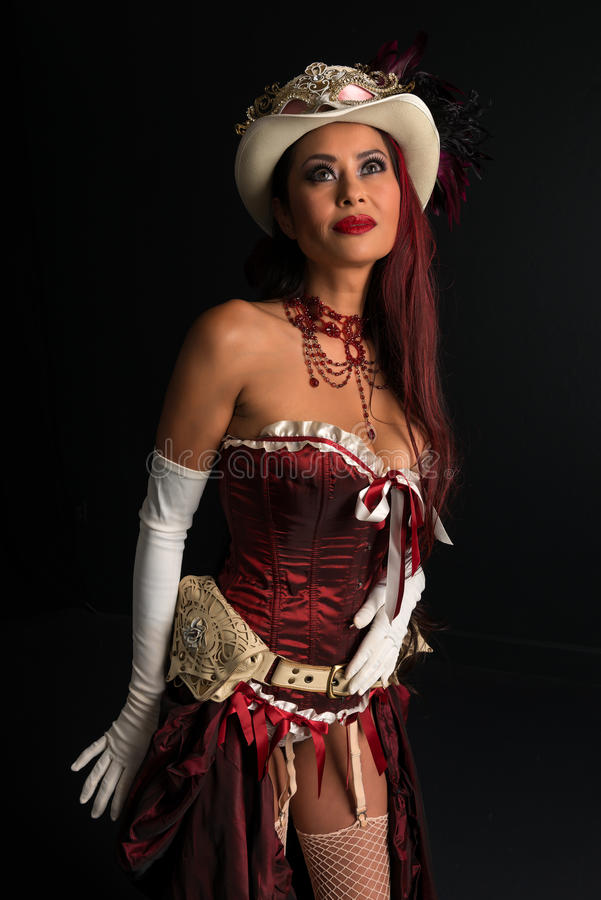 Rödhårig man på cosplay royaltyfria foton