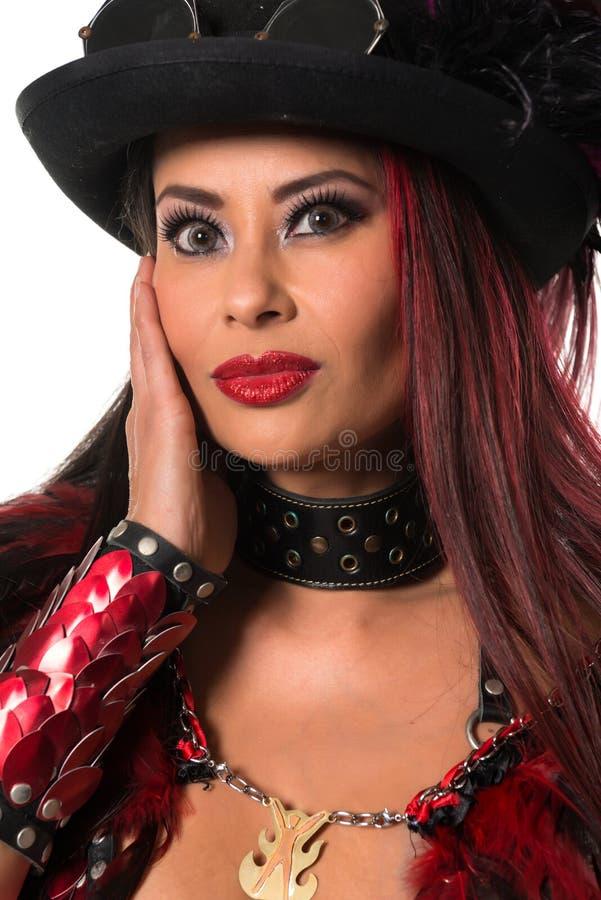 Rödhårig man på cosplay arkivfoton