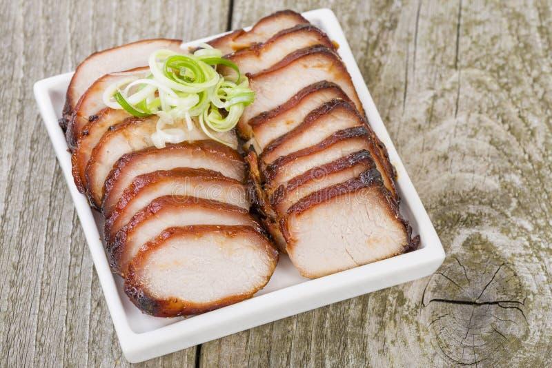 Röding Siu Pork royaltyfria foton
