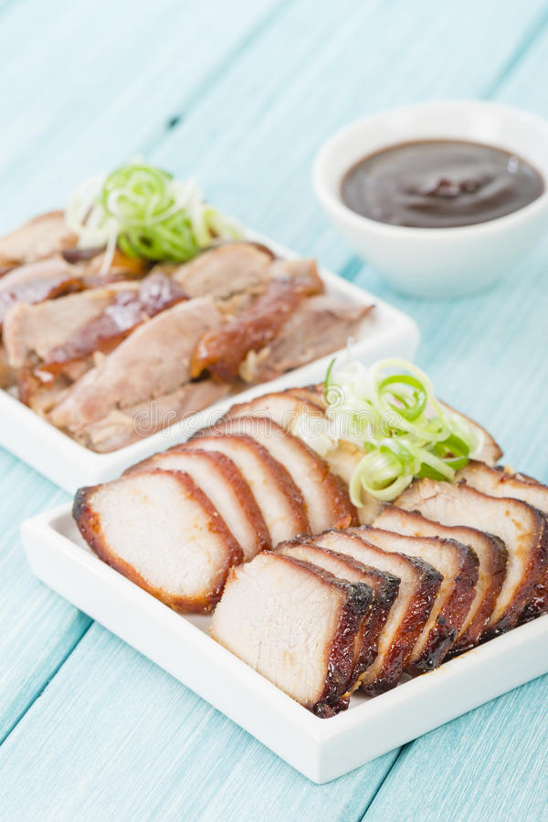 Röding Siu Pork & Peking and royaltyfria bilder