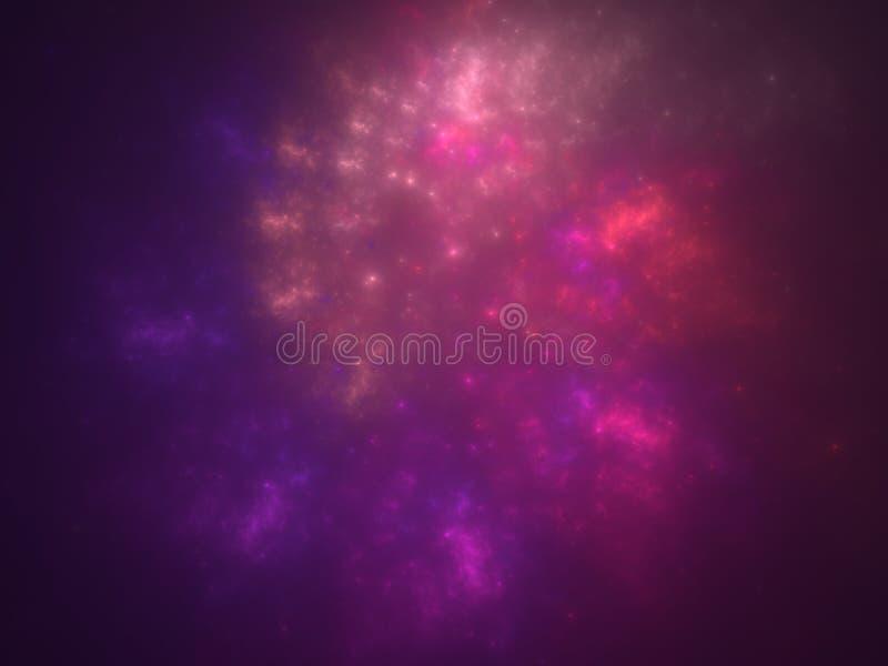 Rödrosa skal snurrande nebula space bakgrund royaltyfria bilder