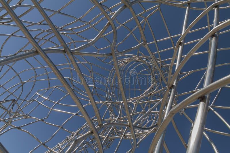 Röhrenskulptur lizenzfreie stockfotos