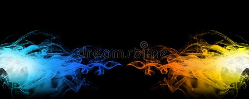 rök för blå red fotografering för bildbyråer