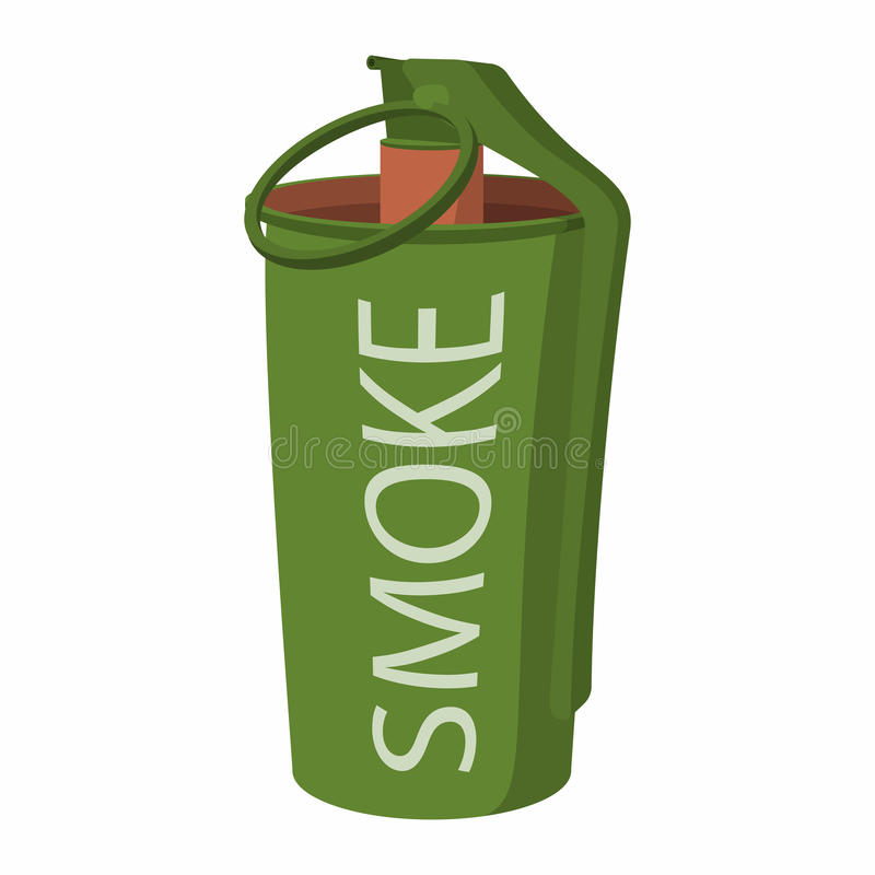 Rök för handgranaten bombarderar symbolen stock illustrationer