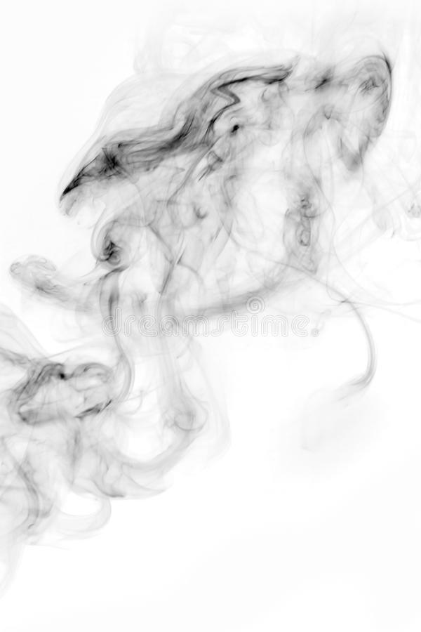 Rök-format monster, vit bakgrund royaltyfria foton
