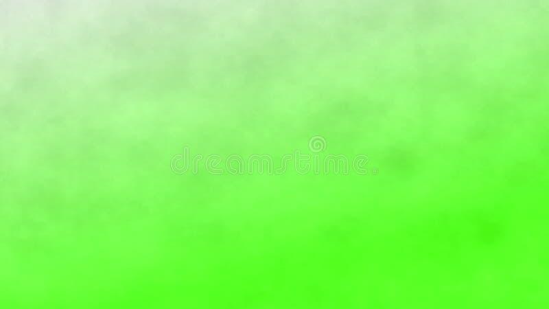 Rök på en grön skärmbakgrund, abstrakt bakgrund illustration 3d vektor illustrationer