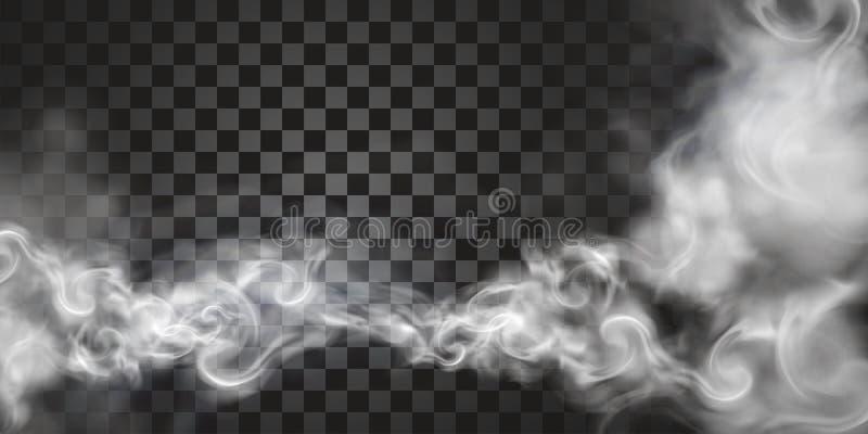 Rök som svävar i luften royaltyfri illustrationer