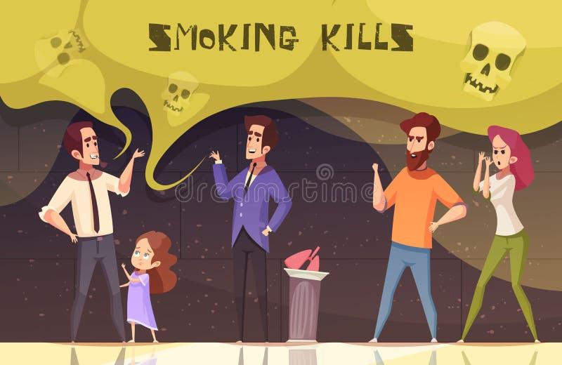 Röka bytevektorillustrationen stock illustrationer