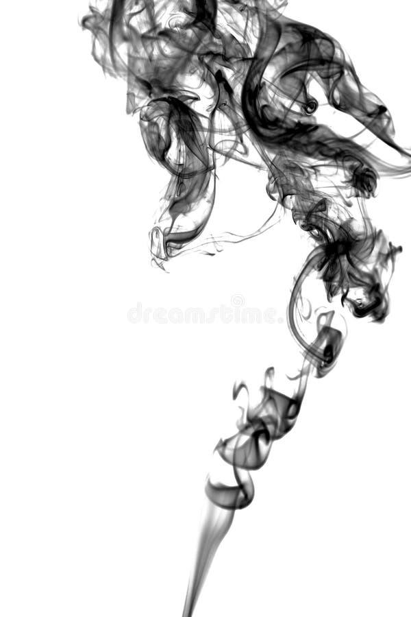 Röka det abstrakta fotoet som isoleras på vit bakgrund fotografering för bildbyråer