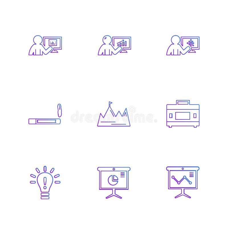 röka idé, diagram, graf, procentsats, navigering, aktie royaltyfri illustrationer