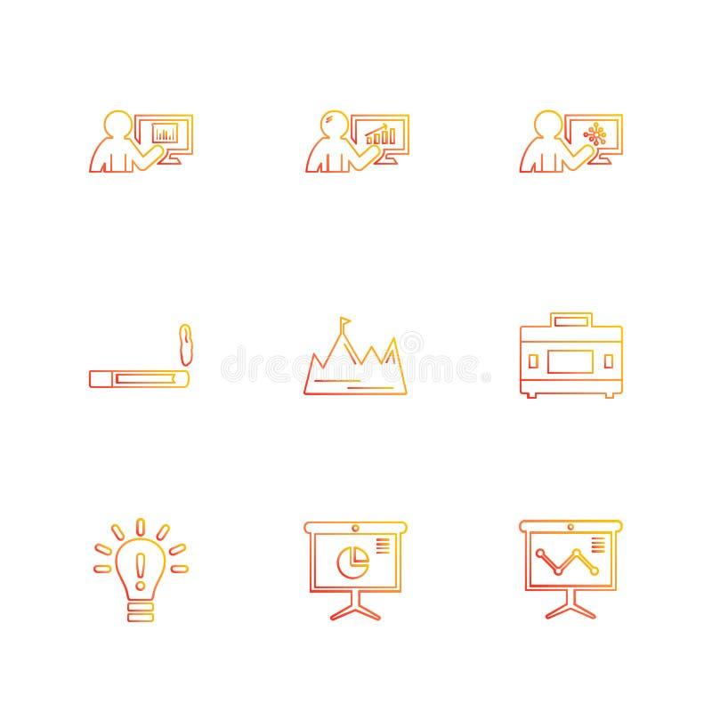 röka idé, diagram, graf, procentsats, navigering, aktie vektor illustrationer