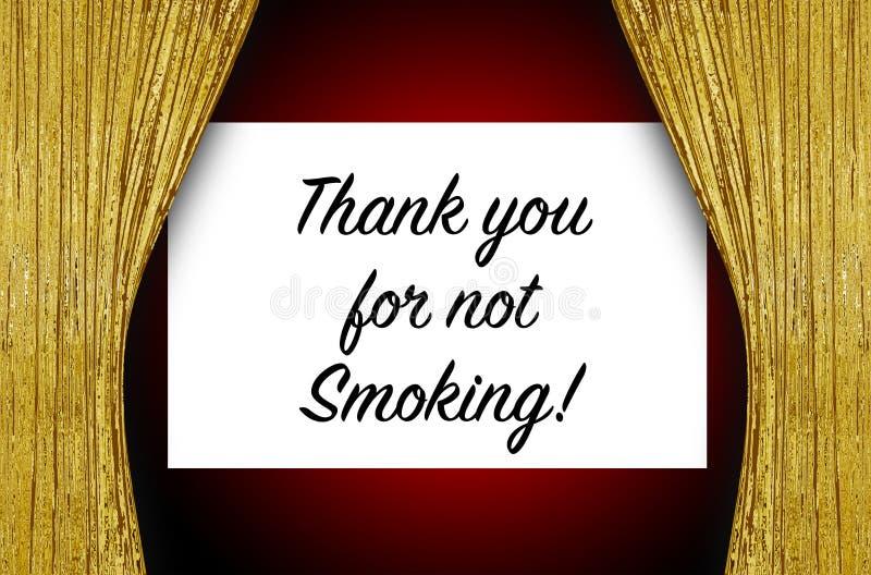 röka inte tacka dig arkivfoto