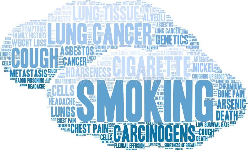 Röka ordmolnet stock illustrationer
