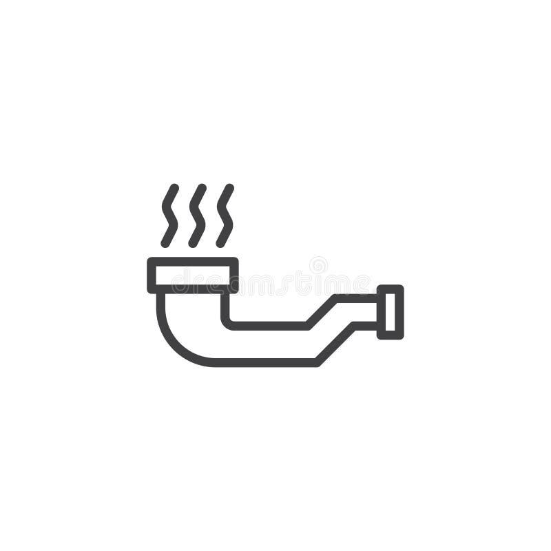 Röka röröversiktssymbolen royaltyfri illustrationer