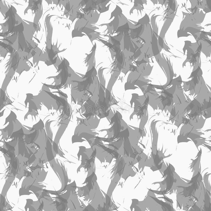 Röka sömlös textur på den vita bakgrundsmodellvektorn Sömlös modell för rök Sömlös bild för rök stock illustrationer