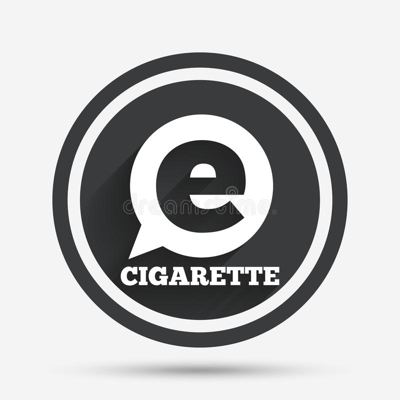 Röka teckensymbolen E-cigarett symbol stock illustrationer