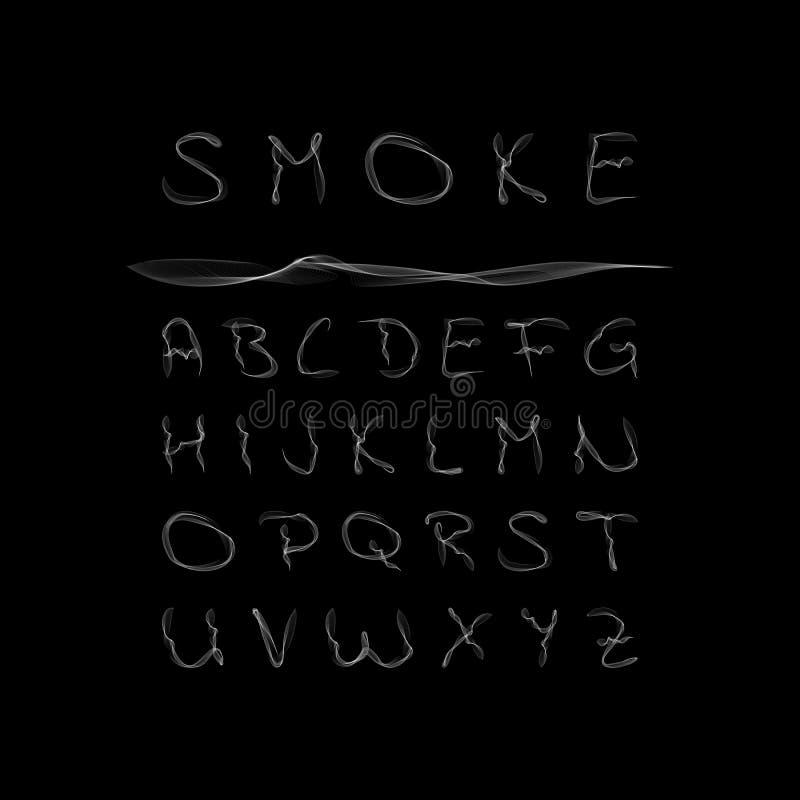 Rökalfabet också vektor för coreldrawillustration royaltyfri illustrationer